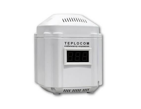 Стабилизатор сетевого напряжения TEPLOCOM 222/500-И, индикация
