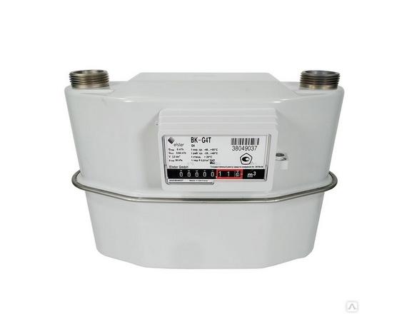 Счетчик газа ВК G4T левый с базой 250 мм